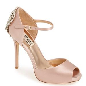 Badgley Mischka Crystal Back D'orsay Pump